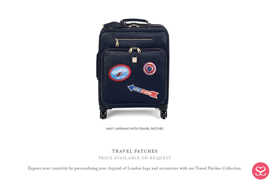 Aspinal of London Luggage Suitcase SS18 Patches