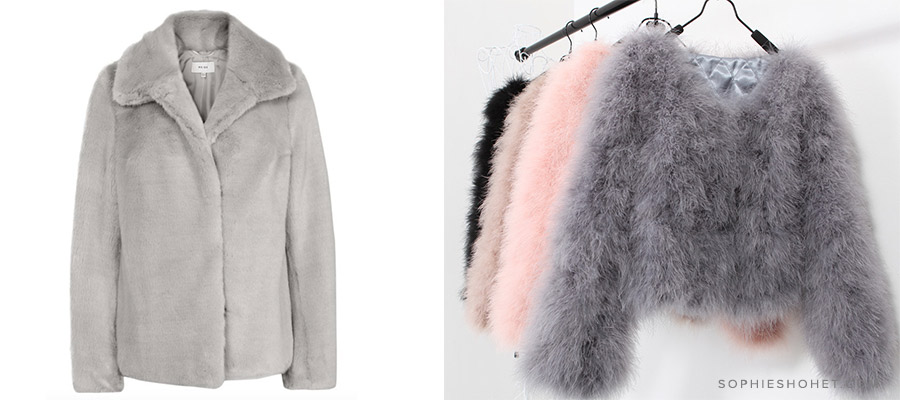 AW17 Best Faux Fur & Marabou Feather Jackets and Coats