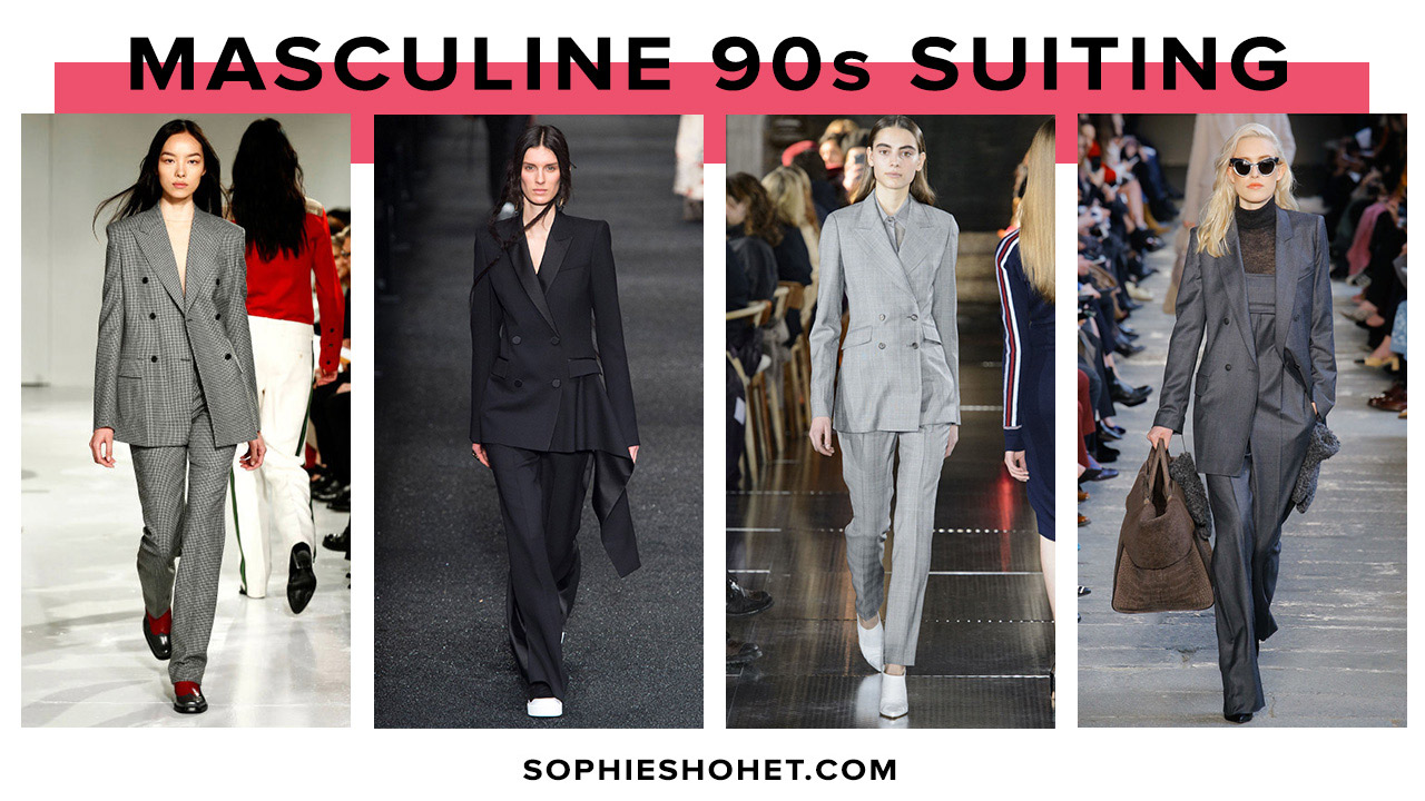 AW17 : The 90s Masculine Power Suit