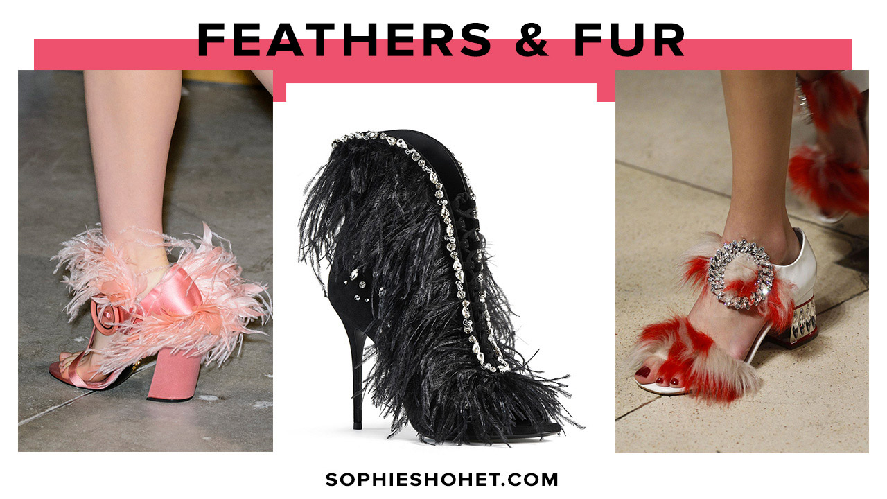 AW17 Trends for Shoes: Feathers & fur