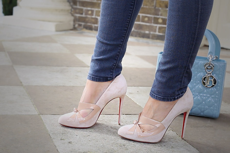 Christian Louboutin SS17 Pumps - Bow Me Dear Nude