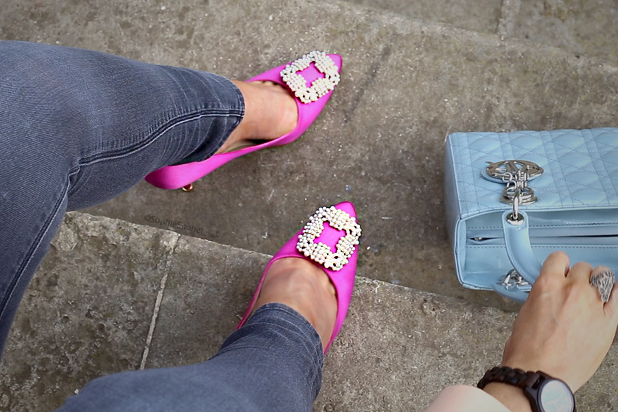 Manolo Blahnik Hangisi Fuschia and Pearl Pumps Review