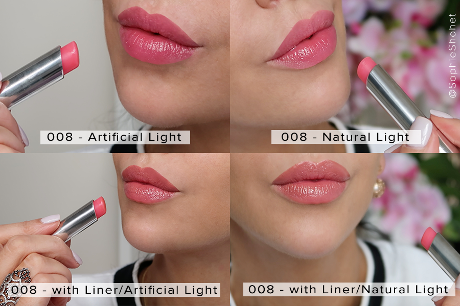 008 Ultra Pink - Dior Lip Glow Swatch