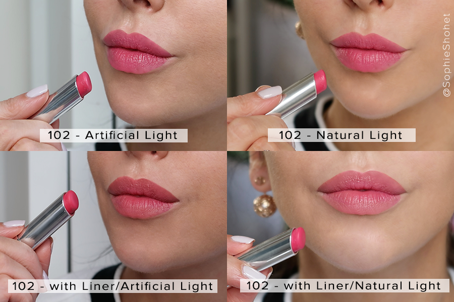 102 Matte Raspberry - Dior lip Glow Swatch