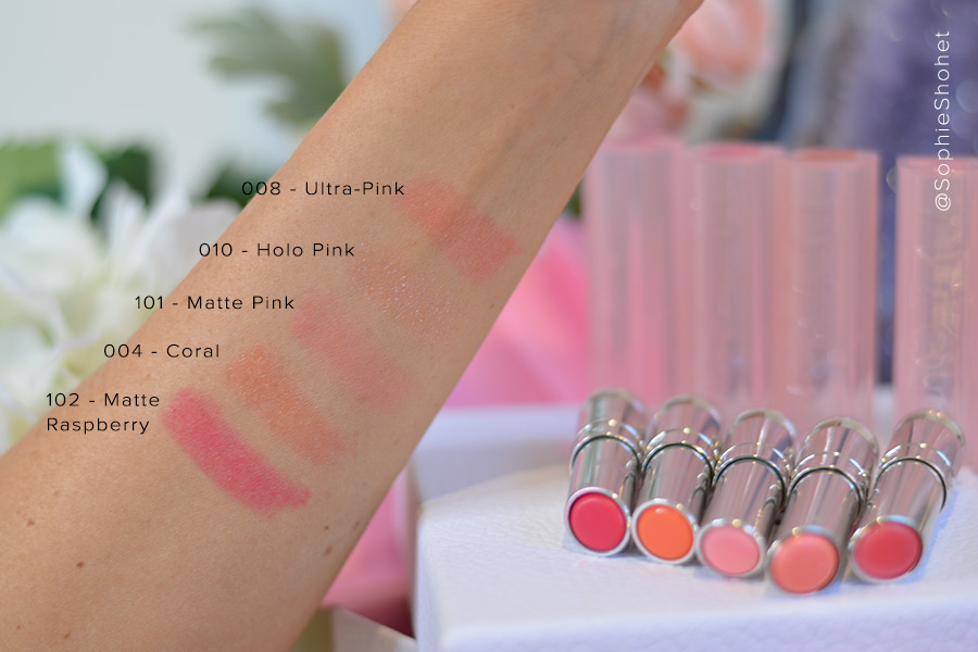 Dior Lip Glow Swatches