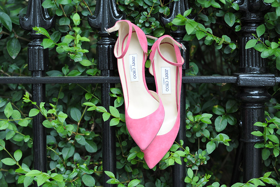 Jimmy Choo Lucy 100 pumps in pink coral
