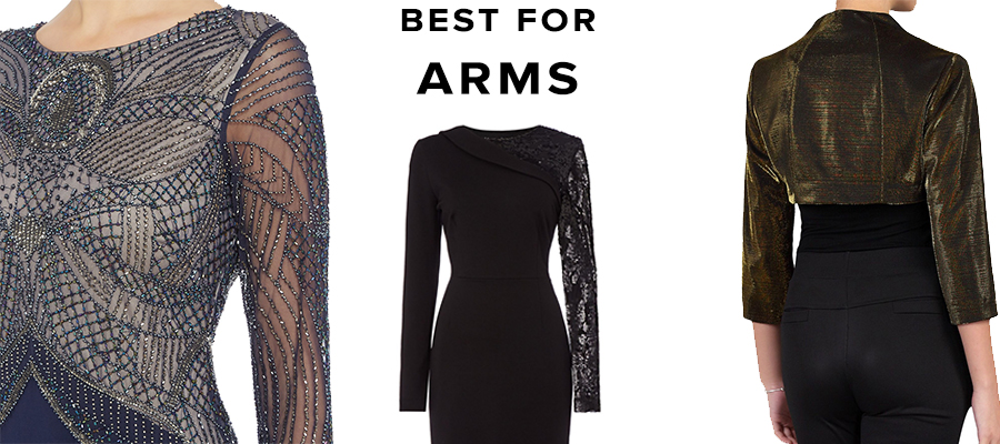 Best evening dresses for coving arms