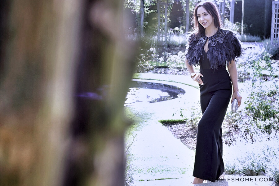 Winter Styling with a classic black jumpsuit