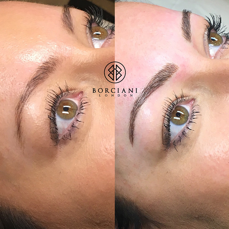eyebrow microblading vs tattoo. microblading borciani london before \u0026 after photo eyebrow vs tattoo